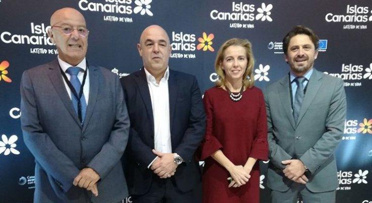 Antonio Hormiga, José María Mañaricúa, Susana Pérez y Jorge Marichal, presidentes de las cuatro principales patronales turísticas canarias