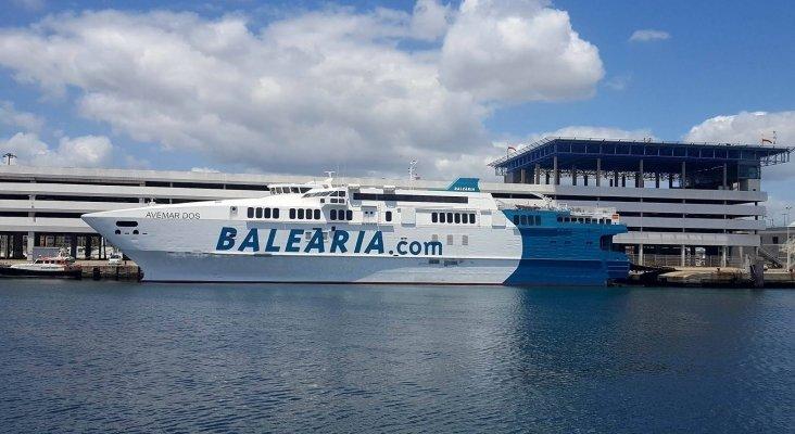 Los ferris de pasajeros esquivan el nuevo plan para reducir la velocidad del transporte marítimo | Foto: ferrybalear.blogspot.com