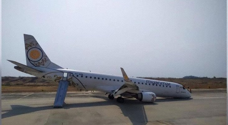 Milagroso aterrizaje sin tren delantero|Foto: En El Aire
