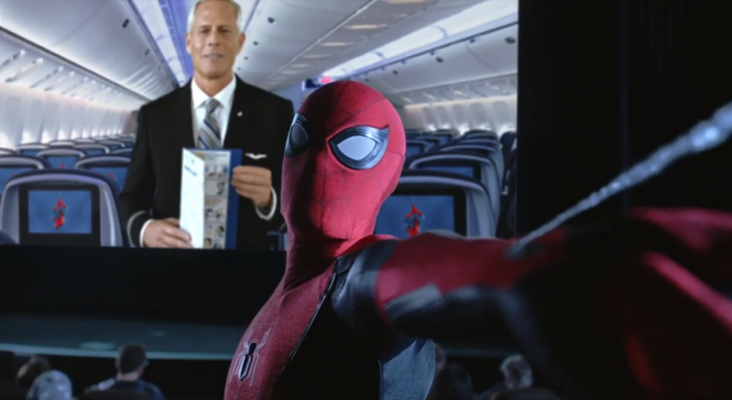 Spider-Man protagoniza el nuevo vídeo de seguridad de United Airlines