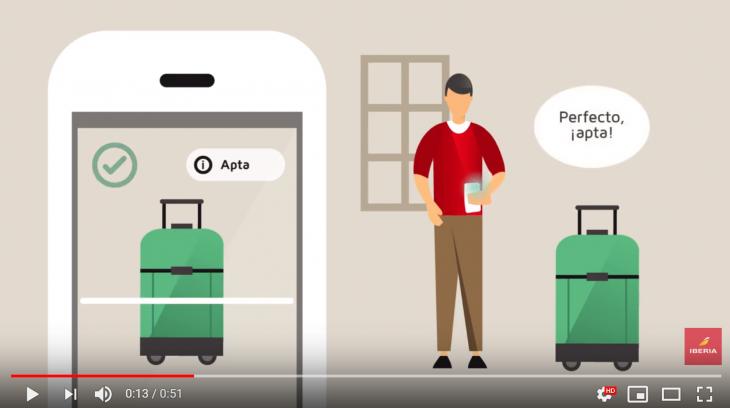 La app de Iberia ya permite a los usuarios medir la maleta