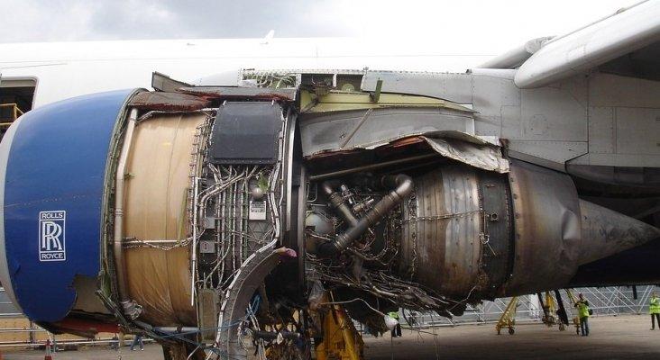 Motor de avión similar al que ha sufrido el percance en Filadelfia (EE.UU.)
