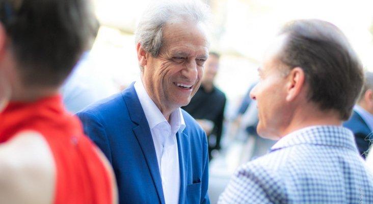 Eduardo Gamero (presidente de Fomento de Turismo de Mallorca) y Hans Müller (Thomas Cook) | Foto: Paolo Sapio