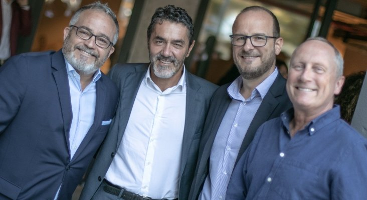 Ignacio Moll (Tourinews), Iñaki Susilla (Princess Hotels & Resorts), Eduardo Iglesias (Ferrer Hotels) y Chris Mottershead (Thomas Cook) | Foto: Paolo Sapio