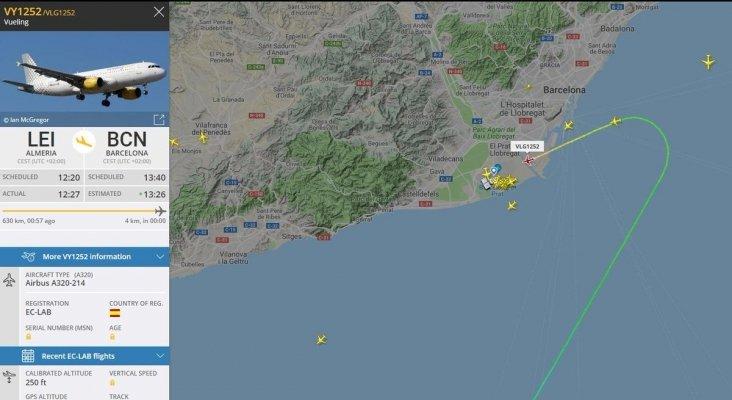 Gracias a la coordinación entre los controladores aéreos el avión pudo seguir la ruta más directa | Foto: Controladores Aéreos vía Twitter