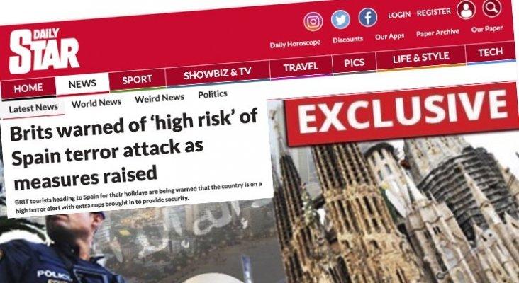 "Medios británicos insinúan que hay ""alto riesgo"" de ataque terrorista en España"