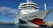 Crucero de Aida Cruises en el Puerto de Palma (Mallorca)