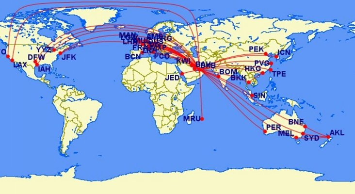 Los vuelos más largos