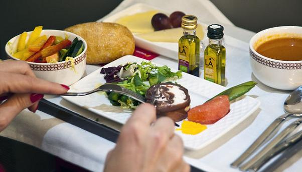 La comida a bordo, cada vez más importante