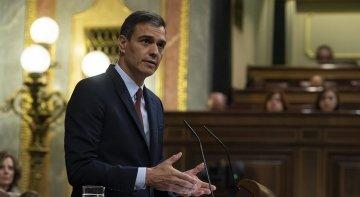 Pedro Sánchez durante la sesión de investidura | Foto: La Moncloa - Gobierno de España (CC BY-NC-ND 2.0)