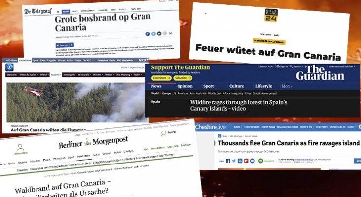 Medios extranjeros se hacen eco del incendio en Gran Canaria