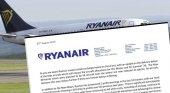Carta de Ryanair confirma a su personal el cierre en Gran Canaria, Girona, Lanzarote y Tenerife