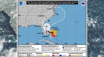 Dorian ataca a Bahamas y se dirige a EE.UU.|Foto: NHC