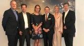De Izqda. a dcha. Joffroy Moreau (Partner Ekkofin), Christoph Rische, Cécile Mariani (rtk International), Thomas Bösl, Sophie Roggeman (Avitour), Alain Kisiel (Avitour)| Foto: rtk