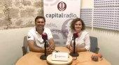Victor Lugo, presidente del Clúster de Enoturismo de Canarias, y Erika Ramírez, Bungalow 103