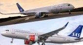 Los aviones de SAS cambian de look tras 20 años | Foto: Arriba el nuevo diseño y debajo el antiguo
