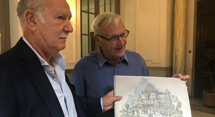 La ampliación del BIOPARC estará lista en marzo de 2022 | Foto: José Maldonado, presidente de Rain Forest (izq.), y José Maldonado, alcalde de València