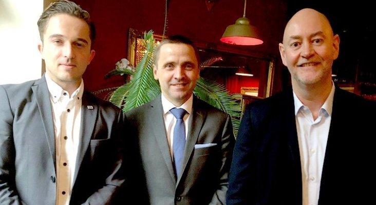 Izqda a Dcha: Volker Adams, Thomas Bösl y Paris Hegenberger-Görg