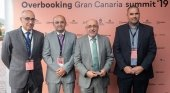 Dcha. a izqda. Eladio Bombín, Carlos Álamo, Antonio Morales y Diego Pajarón