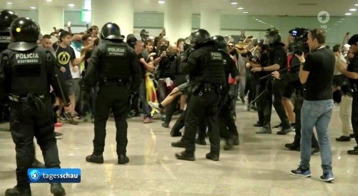 Revueltas en Aeropuerto de Barcelona Tagesschau