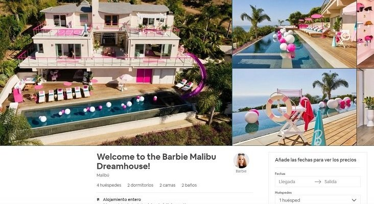 La casa de Barbie, disponible en Airbnb