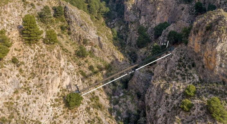 Un puente colgante, el nuevo atractivo de Málaga