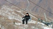 El líder norcoreano en la pista de esquí