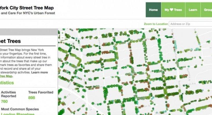 mapa de arboles nyc