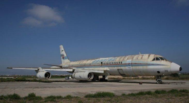 El Convair CV990 Coronado EC BZO  en el aeropuerto de Palma