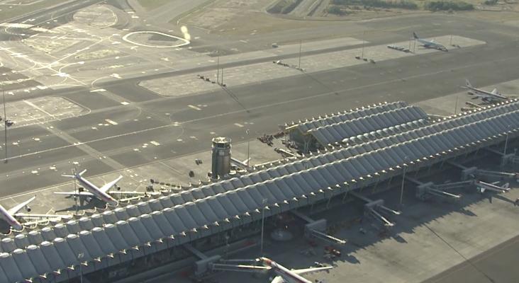 Vista aérea del aeropuerto Adolfo Suárez - Madrid - Barajas