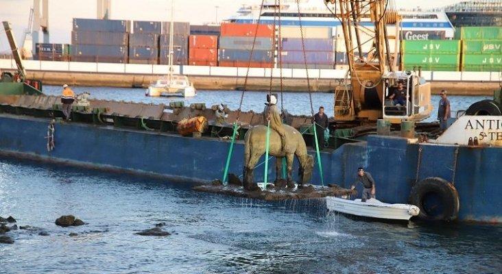 Retiran los caballos de Jason de Caires | Foto: el periódico de Lanzarote