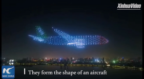 800 drones fly in shape of giant airplane in Nanchang, China 0 9 screenshot