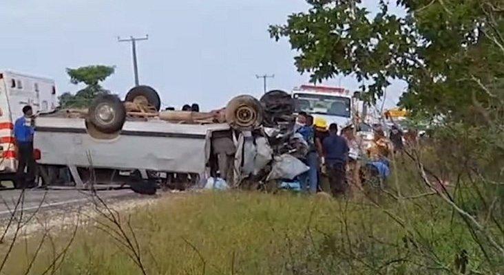Dos accidentes de autobuses turísticos en Túnez y Belice dejan 26 fallecidos | Foto: Accidente en Belice- Channel 5 Belize