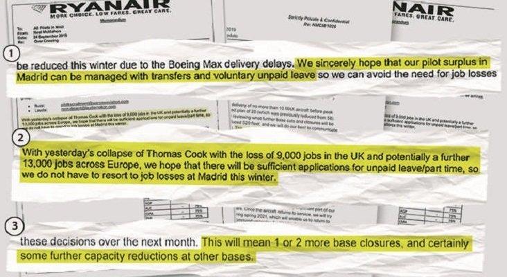 Ryanair justifica los recortes salariales en España con la quiebra de Cook | Foto: elEconomista.es