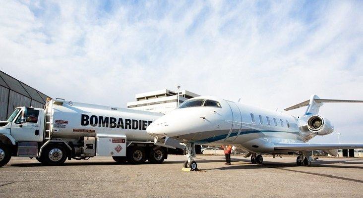 Entregan el primer avión que funciona con combustible sostenible | Foto: Bombardier vía Twitter