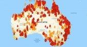 Evacúan a miles de vecinos y turistas cercados por el fuego en Australia|Foto: MyFireWatch