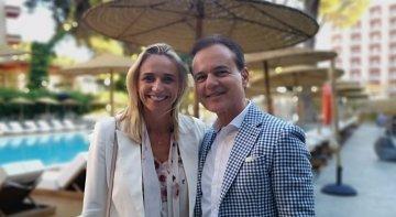 Hans Müller, DER Touristik con María Frontera, presidenta de la FEHM