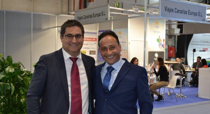 Pablo Guillén, director comercial de Hoteles THe y Ángel Luis Tadeo, consejero delegado Dunas Hotels & Resorts