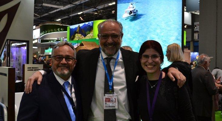 Ignacio Moll, Manuel Serrano, director Comercial de Princess Hotels & Resorts en el Caribe, y Amor Alonso