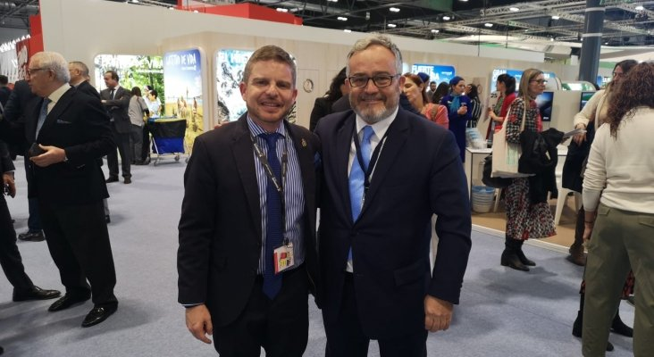 David Pérez, consejero delegado de Turismo de Tenerife, e Ignacio Moll