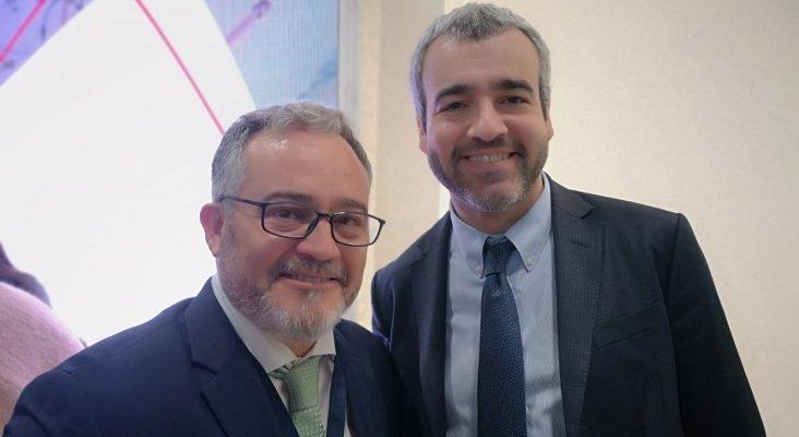 Ignacio Moll, editor Tourinews y Maurici Lucena, presidente de Aena