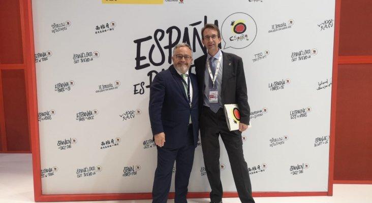 Ignacio Moll y Álvaro Blanco, subdirector general adjunto de Conocimiento y Estudios Turísticos TURESPAÑA