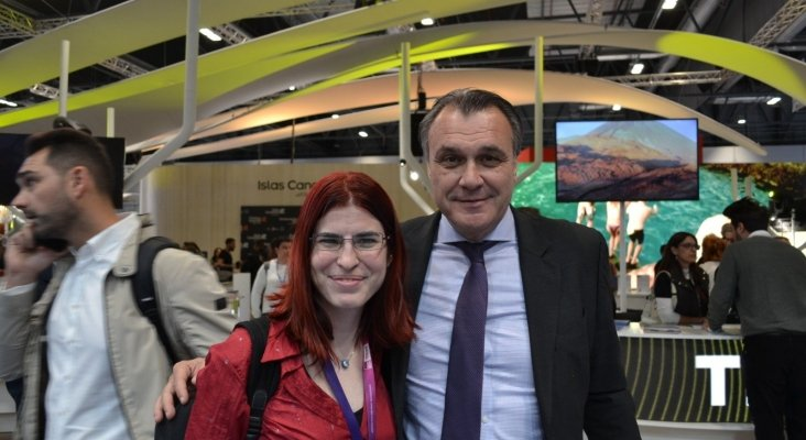 Amor Alonso y Rafael Gallego, vicepresidente de la Confederación Española de Agencias de Viajes