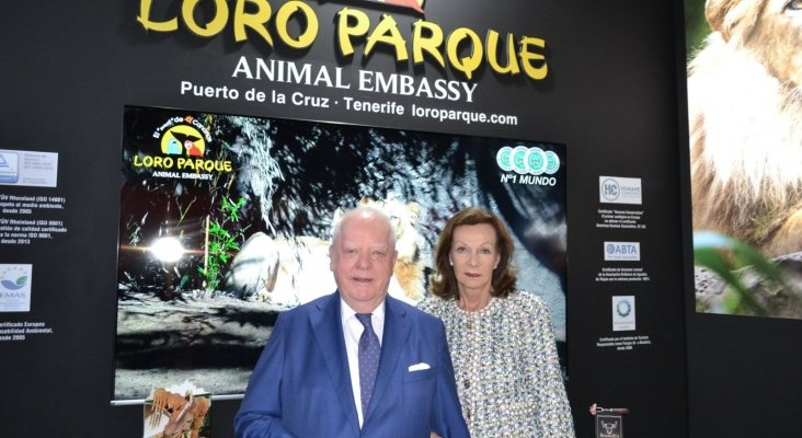 Wolfgang Kiessling, propietario-fundador de Loro Parque y su mujer, Brigitte Kiessling