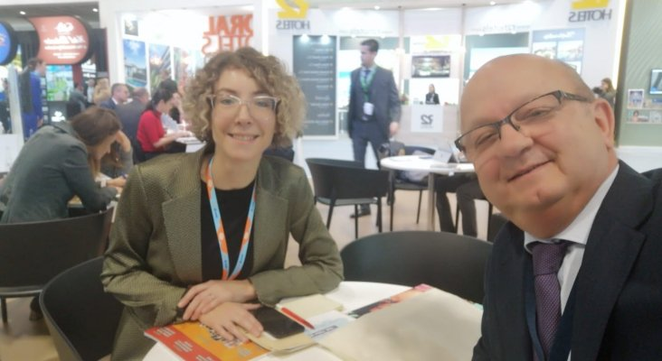 Christiane Unruh. Coordinadora de Negocio España TSS GROUP y Juan González