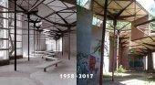 Pabellón de los Hexágonos en 1958 y en la actualidad