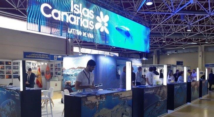 Los fondos marinos de Canarias aterrizan en la mayor feria de submarinismo de España