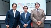 De izqda. a dcha. Luis Torres Paz, Guillermo Cortés (viceministro de Turismo) y Carlos Canales Anchorena