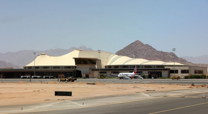 Aeropuerto de Sharm El-seij, en Egipto
