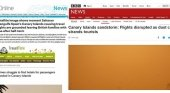 "Prensa internacional informa sobre la ""tormenta de arena que engulle Canarias"""